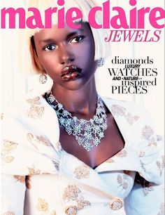 Ajak Deng by Marguerite Oelofse for Marie Claire South Africa DEC 2012.