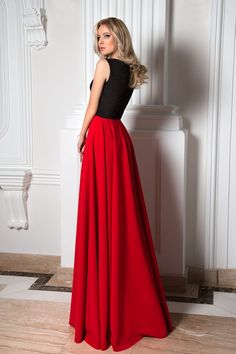 Robe de cocktail Isabelle (dos) Robe Cocktail Rouge, Robe De Soirée, Longues bf0f348cde0e