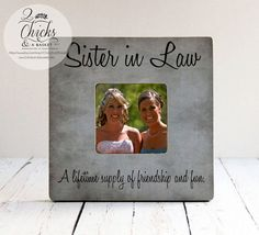 Sister In Law A Lifetime Supply Of Friendship by 2ChicksAndABasket