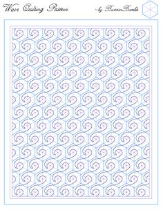 One block wonder quilting suggestions. Blank OBW (hexagon) printable template plus several quilting ideas.