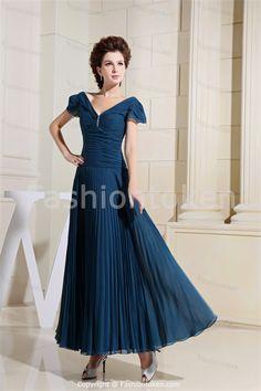 roya; blue mother of the bride dresses | Dark Blue Ankle-Length A-Line Petite Short Mother of the Bride Dress