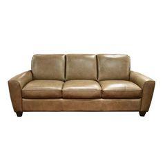 Leather Sofa in Tan | Nebraska Furniture Mart