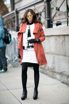 White mini and matching varsity jacket. NYC