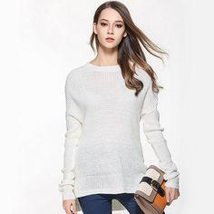 Sweater Shirt Women Jumper 2017 Spring Oversized Sweater Long Sleeve Women Knitwear Blue Loose Sweater Female Pullover GAREMAY