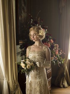 Lily James as Lady Rose MacClare in Downton Abbey (TV Series, 2014).