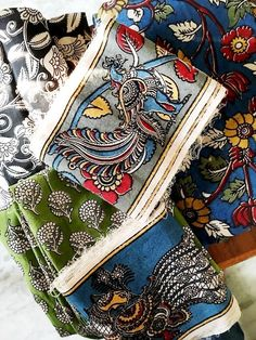 Kalamkari is enjoying a big comeback in all the stores, fairs, exhibitions that I've been to on this trip to India. It's always been popular but seems...