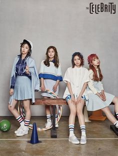 Lovelyz shed their girly image for a more sporty look in 'The Celebrity'   allkpop.com