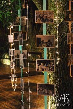 decoração de casamento cortina defotos