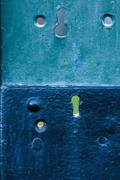 blue keyholes by Ron Lute