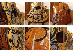 DIY Custom Guitar tutorial using wall stickers. A total custom look for a great price!!!
