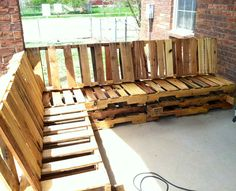 This is the pallet bench I made