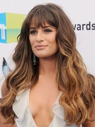 Medium brown ombre with bangs. Thinking about it.