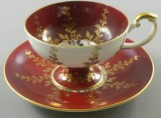 Aynsley Cup & Saucer Burgundy & Gold 2878 Footed Cup Vintage  http://www.ebay.com/itm/Aynsley-Cup-Saucer-Burgundy-Gold-2878-Footed-Cup-Vintage-/370600023892?pt=LH_DefaultDomain_0=item56497b9754#ht_3477wt_754