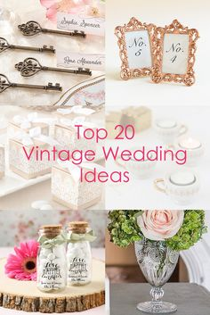Find the perfect favors, decorations and supplies for a Vintage Wedding!