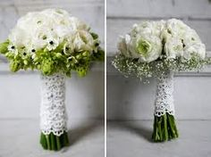 Lace Wrap...Ranunculus and Ornithogalum