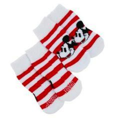 Disney PetHoliday Dog Shoes Mickey Footwear Socks Small Red White Christmas NWT Click here for more cute Pet Apparel: www.lazybreezedeals.com