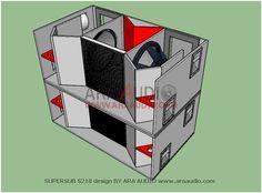 Skema box SUPERSUB S218 subwoofer 18 inch mantap | ARA AUDIO Woofer Speaker, Monitor Speakers, Diy Speakers, Subwoofer Box Design, Speaker Box Design, Sub Box Design, Audio Box, Building A Workbench, Loudspeaker Enclosure