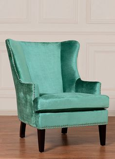 Winchester Velvet Arm Chair love the color. add to a reading nook, and I'm sold.