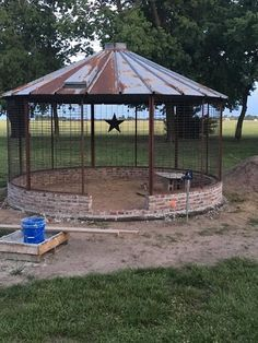 Corn Crib Gazebo, my niece and husband built. Just love it! Corn Crib Gazebo, my niece and husband b Outdoor Rooms, Outdoor Fun, Outdoor Gardens, Outdoor Living, Outdoor Ideas, Outdoor Decor, Portable Gazebo, Portable Crib, Backyard Gazebo