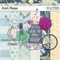 Quality DigiScrap Freebies: On A Whim mini kit freebie from Digilicious Designs