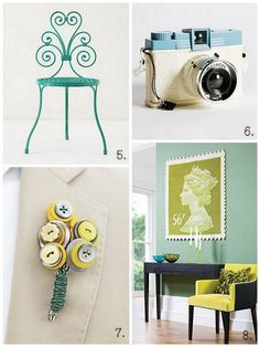 living room colors (teal, yellow, green)