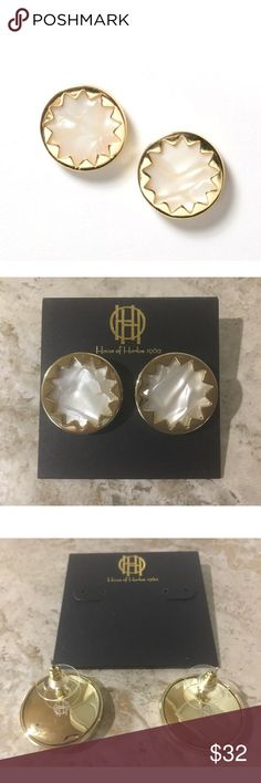 Spotted while shopping on Poshmark: NEW! House of Harlow Pearl Sunburst Earrings! #poshmark #fashion #shopping #style #House of Harlow 1960 #Jewelry