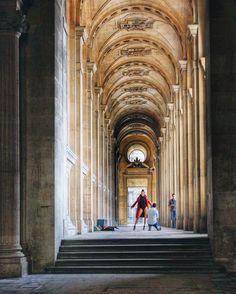 Paris, France. Street, building, architecture. Woman, model, photographer.
