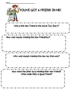 Friendship- You Got a Friend In Me- Toy Story. by Buckeye School Counselor Friendship Lessons, Friendship Activities, Toy Story Room, New Toy Story, Road Trip Activities, Class Activities, 5 Year Old Toys, Teachers Room, Toy Story Birthday
