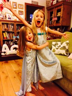This is my Ice queen dress that I designed. Lots of girls are loving this. It's made with stretchy fabrics so it lasts longer. It is done up with a kam snap instead of velcro, so it wont ruin the dress.