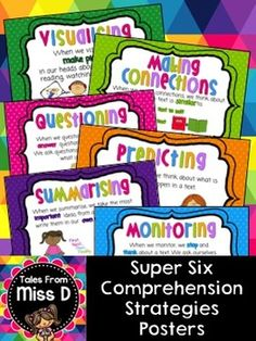 Super Six Posters - A set of 6 posters explaining the Super Six Comprehension Strategies