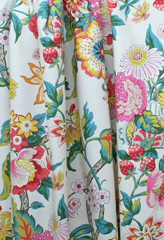 springy floral fabric would be a fantastic shower curtain.  #tonicliving #waverly #fabric