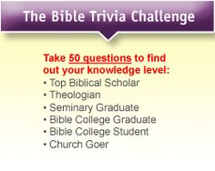 Play Free Online Bible Trivia Facts Game