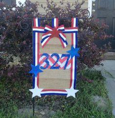 Patriotic Burlap Garden Flag