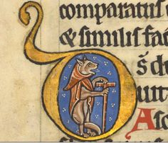 Foxy is delighted with the news that the Conservatives lost their majority. Well done, Britain! (BL Harley 5102 f42v)