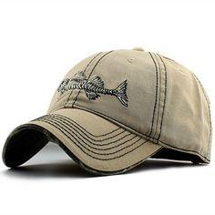 da691feef9a High-quality Mens Unisex Cotton Fish Spur Baseball Hat Outdoor Sports  Travel Sunshade Snapback Hat
