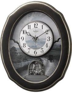 Rhythm Clocks Joyful Homestead Magic Motion Musical Clock - 30 Melodies