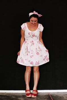 The NEW naughtyshorts 50's style tea dress via Etsy
