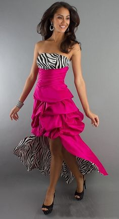 Strapless Zebra Print Dress with Removable Skirt formal cocktail dresses Homecoming Dresses, Grad Dresses, Homecoming 2014, Pageant Dresses, Dress Prom, 15 Dresses, Party Dresses, Short Semi Formal Dresses, Outfits