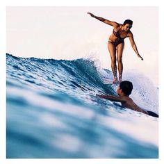 Rosie Jaffurs in the Seea Capitola surf bikini. nice photo by @photokeoki #myseealife #surf