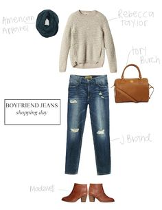 pretty good basic guideline for how to wear the boyfriend jean right