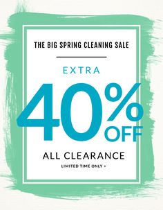 The Big Spring Cleaning Sale.