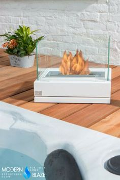 This elegant portable outdoor fireplace can be placed anywhere you wish.