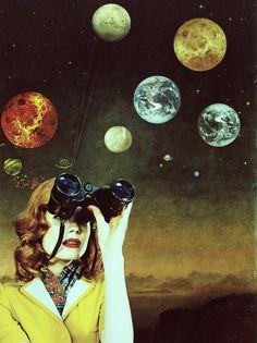 Mirando el planeta por su ventanilla, pensando en lo pequeño que uno es