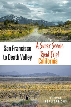 The road trip from San Francisco to Death Valley is full of picturesque scenes at every corner. Here are the must-see stops along the way. I hope the experience of my road trip rekindles the spark of wanderlust in all of you! #California #TravelCalifornia #CaliforniaRoadtrip #TravelUSA Death Valley Road, Death Valley California, Death Valley National Park, Visit California, California Travel, Road Trip Hacks, Road Trips, Pinecrest Lake, World Travel Guide