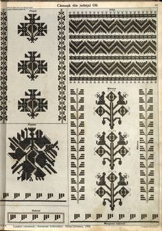 Folk Embroidery, Learn Embroidery, Embroidery Patterns, Cross Stitch Patterns, Machine Embroidery, Antique Quilts, Folk Art, Bohemian Rug, 1
