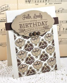 Hello, Lovely Birthday Wishes Card by Dawn McVey for Papertrey Ink (January 2013)