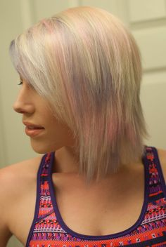 Unicorn Hair! Pastel pink and lavender with icy blonde base. Done by me with Kenra & Schwarzkopf color ♥