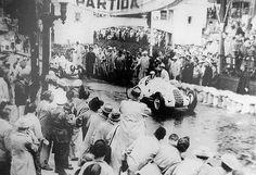 Rio de Janeiro (Gavea) 1938 , start grid , Alfa Romeo 308 #2 of Carlo Pintacuda , winner first place..