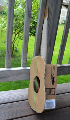 ikat bag: Cardboard Guitar: i made it for my kids today. It rocks!