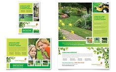 Lawn Mowing Service Flyer & Ad InDesign Template by @StockLayouts
